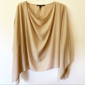 Insight Blouse Large Bat Sleeves Size Small Tan